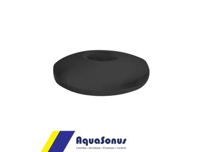 Almofada espuma redonda p/  cóccix rev. pol fria azul