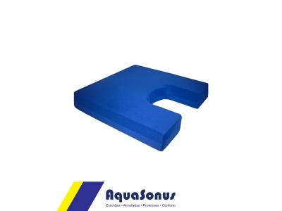 Almofada em espuma para cóccix rev. pol fria azul
