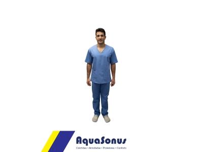 Pijama cirúrgico em brim leve - masculino