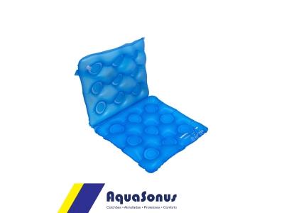 Almofada de gel caixa de ovo quadrada com encosto
