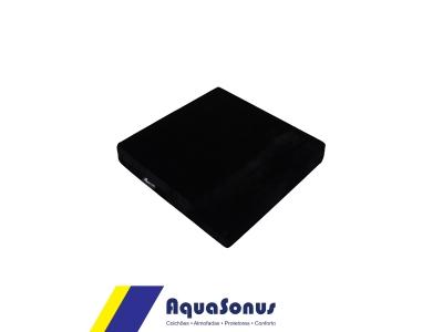 Almofada em espuma e veludo - preto