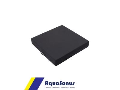 Almofada em espuma revestida poliamida fria  preto