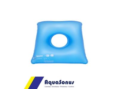 Cojín inflable cuadrado con orificio