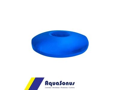 Cojín redondo de espuma para cóccix azul