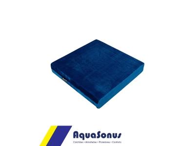 Almofada em espuma e veludo - azul