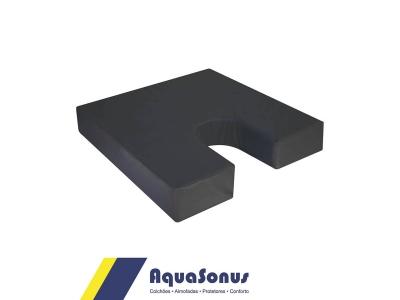 Almofada de espuma p/ Cóccix rev. em courvin  preta
